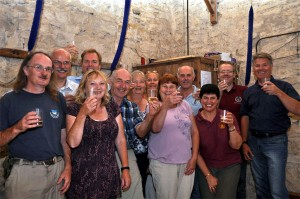Bletsoe Bell Ringers, Tutors, Volunteers celebrate receiving a Heritage Lottery Grant along with Simon Adams from John Taylor's bellfoundry